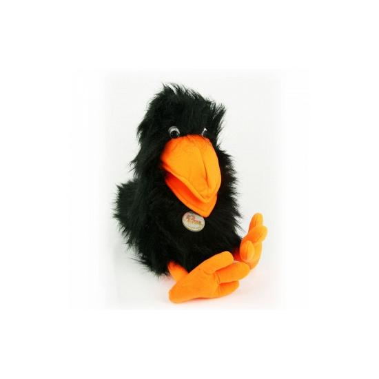 Afbeelding Zwarte raaf handpop door Animals Giftshop
