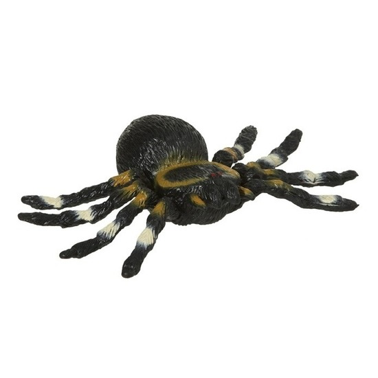 Zwarte tarantula spin rubber 10 cm