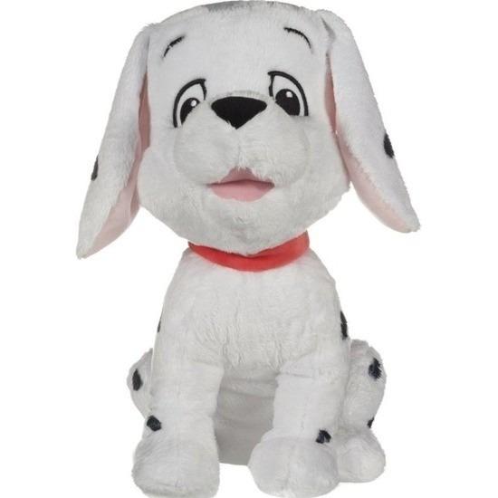 Zwarte/witte Disney 101 Dalmatiers hond knuffels 18 cm knuffeldieren