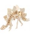 Houten dinosaurus 3d puzzel Stegosaurus met app