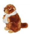 Knuffel marmot met sjaal 20 cm