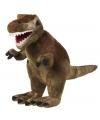 Pluche T-Rex bruin 30 cm