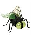 Zwarte nep vlieg met groene ogen