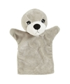 Pluche handpoppen zeehond 22 cm