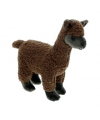 Pluche knuffeltje alpaca bruin 23 cm