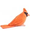 Pluche vogel knuffel oranje Kardinaal 9 cm