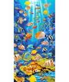 Strandlaken kind tropische vissen 75 x 150