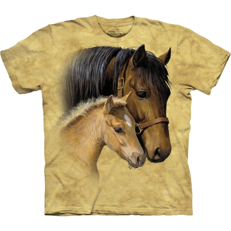 All-over print kids t-shirt met paarden