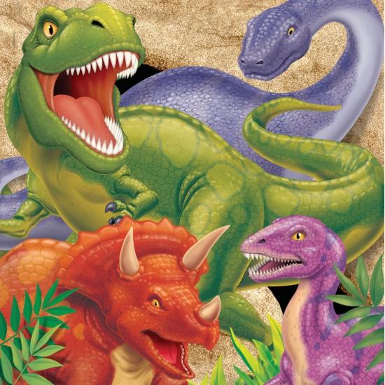 16x Dinosaurus servetjes