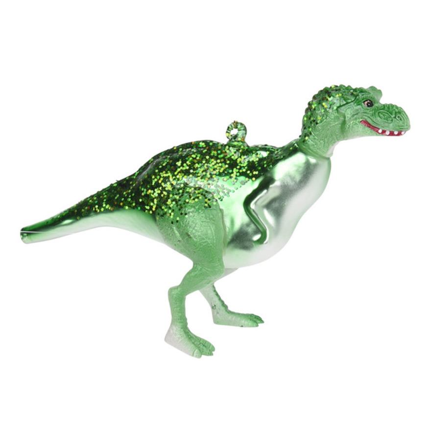 1x Kerstboomversiering dinosaurus ornamenten groen 12 cm