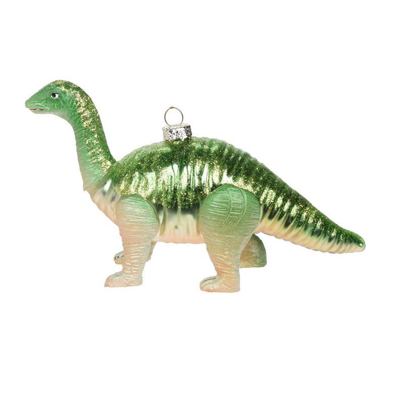 1x Kerstboomversiering dinosaurus ornamenten groen 17 cm