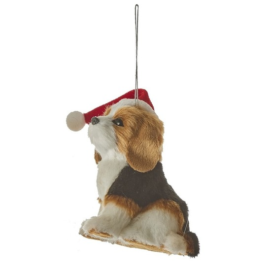 1x Kerstboomversiering hanger Beagle hond 11,5 cm