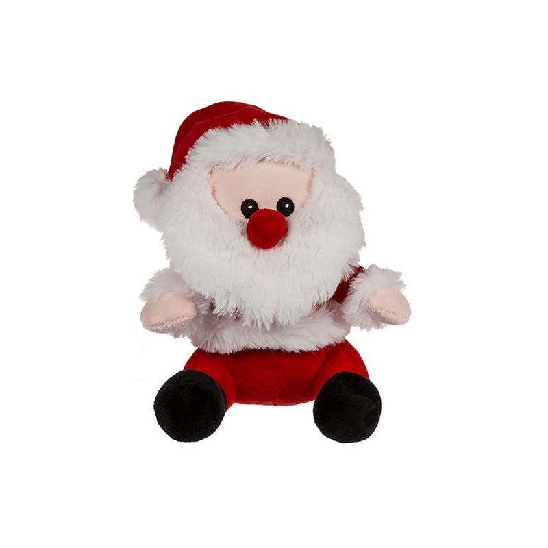 1x Kerstman pluche decoratie poppen 20 cm knuffels