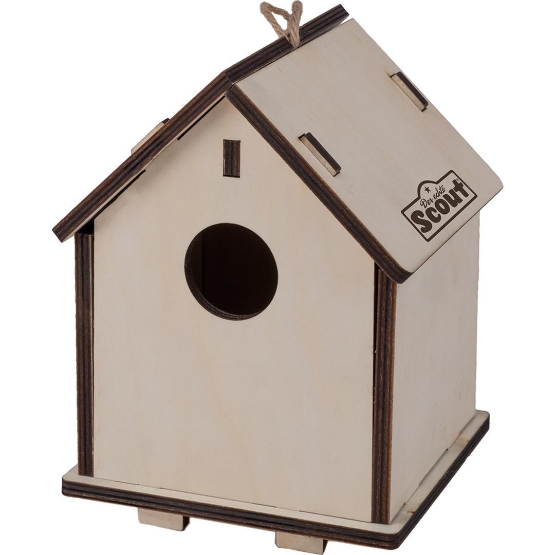 Afbeelding 2-in-1 Vogelvoederhuisje/nestkastje van hout 14 x 19 cm door Animals Giftshop