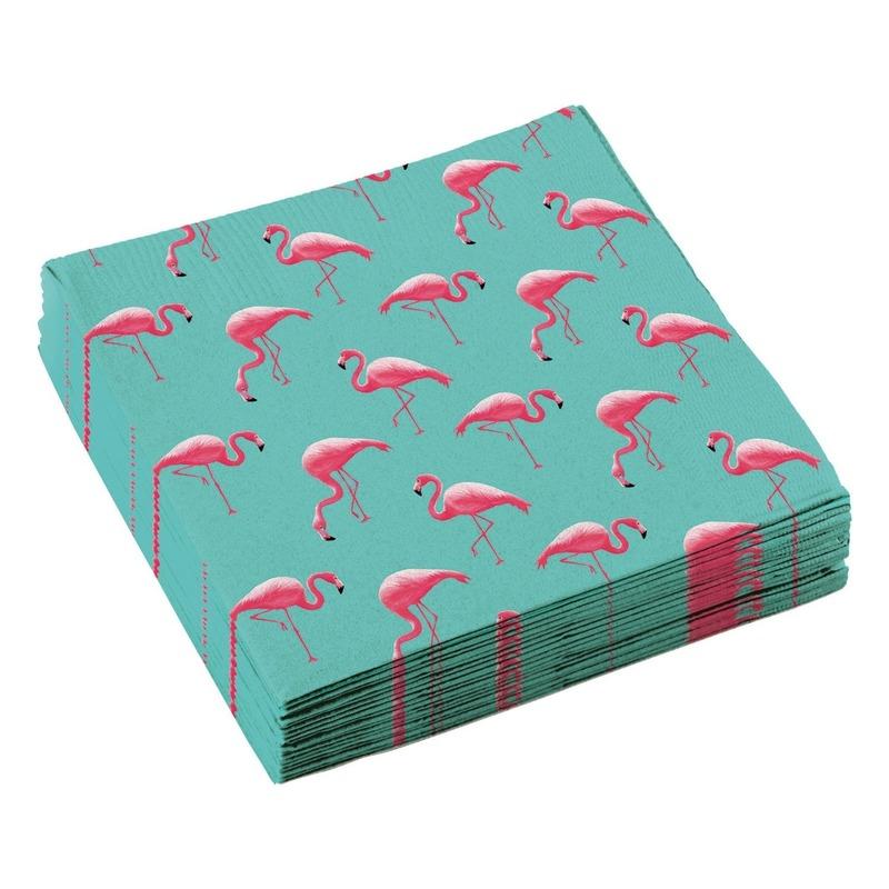 20x Flamingo feest servetten 33cm
