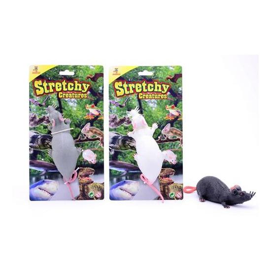 2x Speelgoed ratten 28 cm