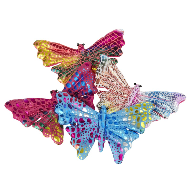 3x Gekleurd speelgoed vlindertje 12 cm