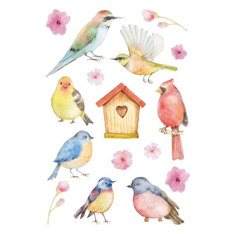 3x Vogel stickervellen met 16 stickers
