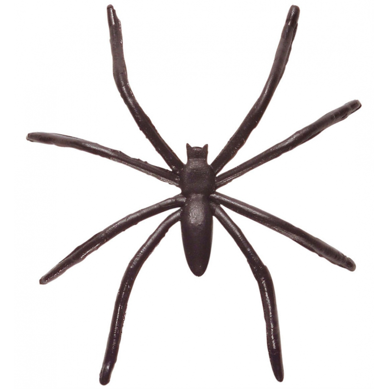 50x stuks horror decoratie spin/spinnen 5 cm