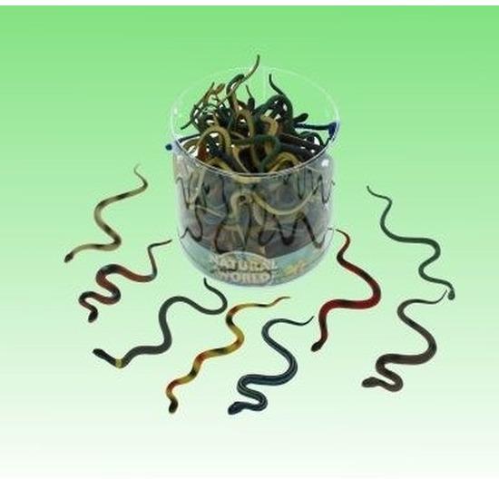 8x Plastic dieren slangen 15 cm