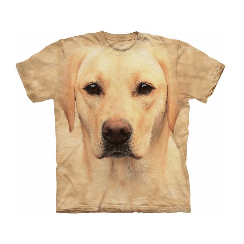 All-over print kids t-shirt met blonde Labrador