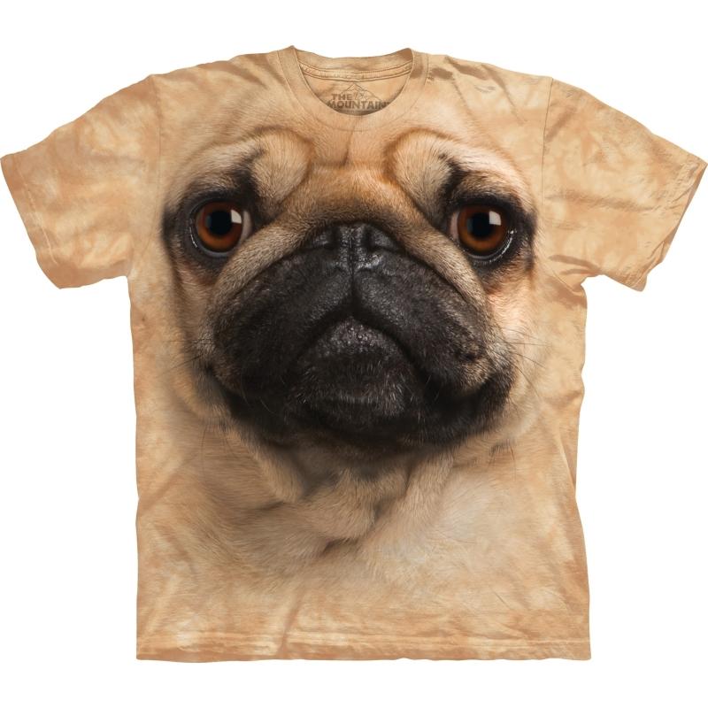 All-over print kids t-shirt met Mopshond
