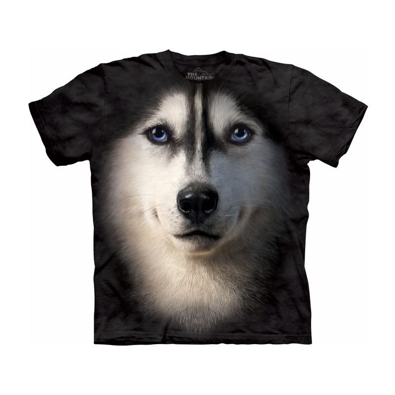 All-over print kids t-shirt met Siberische Husky