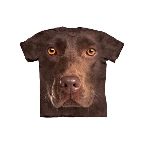 All-over print t-shirt bruine Labrador