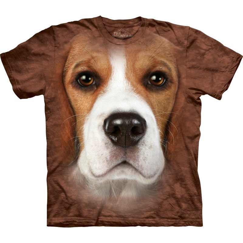 All-over print t-shirt met Beagle hond
