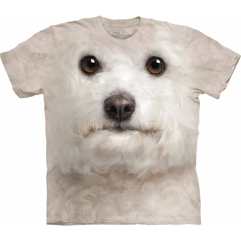 All-over print t-shirt met Bichon Frise