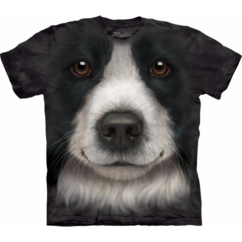 All-over print t-shirt met Border Collie hond