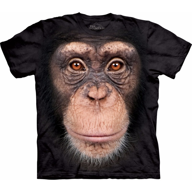 All-over print t-shirt met Chimpansee aap