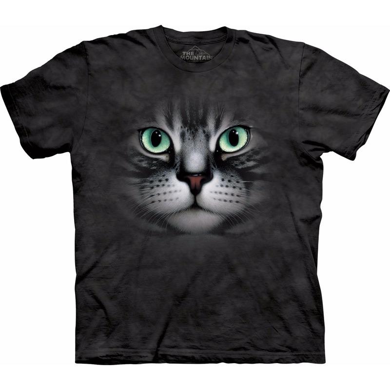 All-over print t-shirt met Cyperse kat