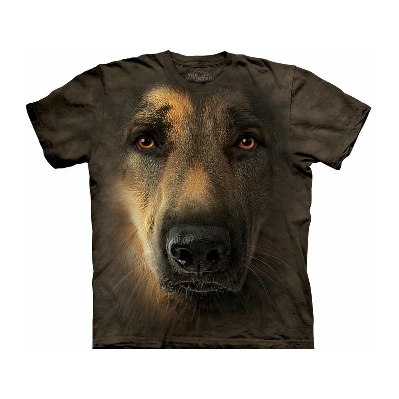 All-over print t-shirt met Duitse Herder