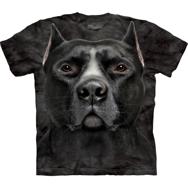 All-over print t-shirt met Pitbull hond