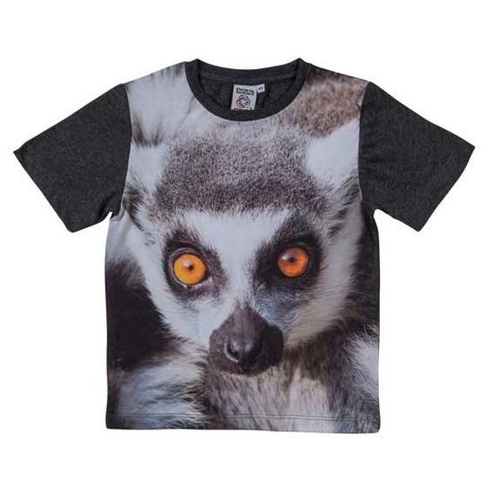 All-over print t-shirt met ringstaart maki voor kinderen