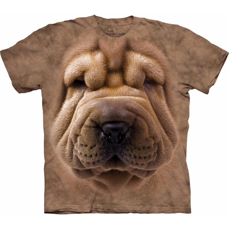 All-over print t-shirt met Sharpei