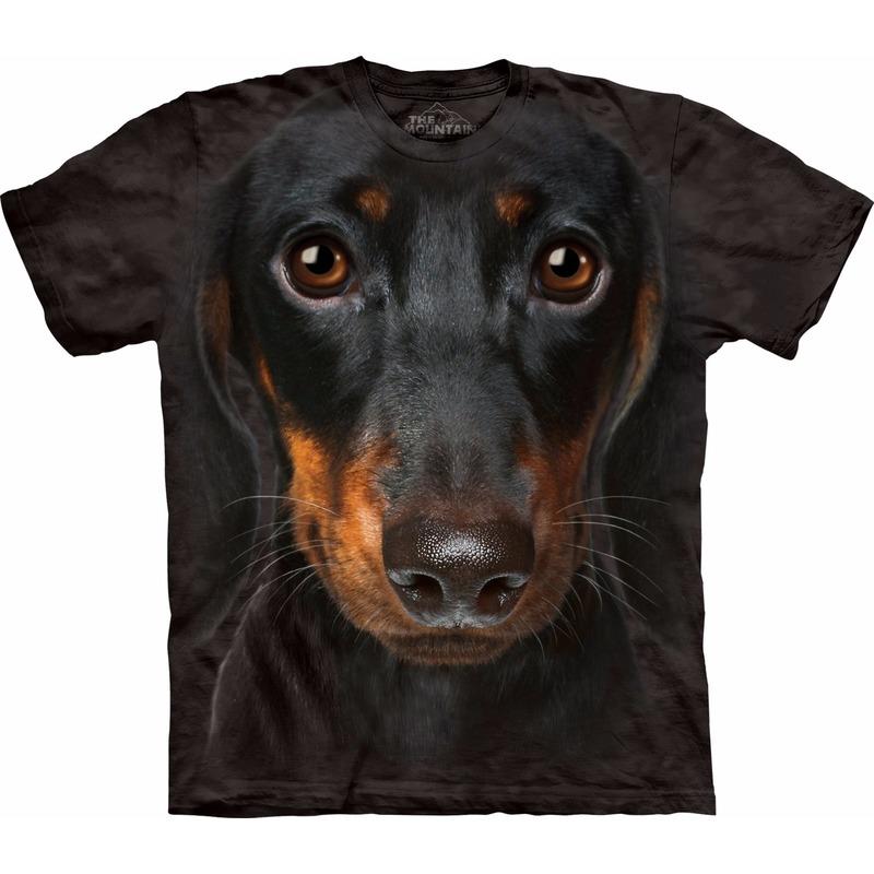 All-over print t-shirt met Teckel hond