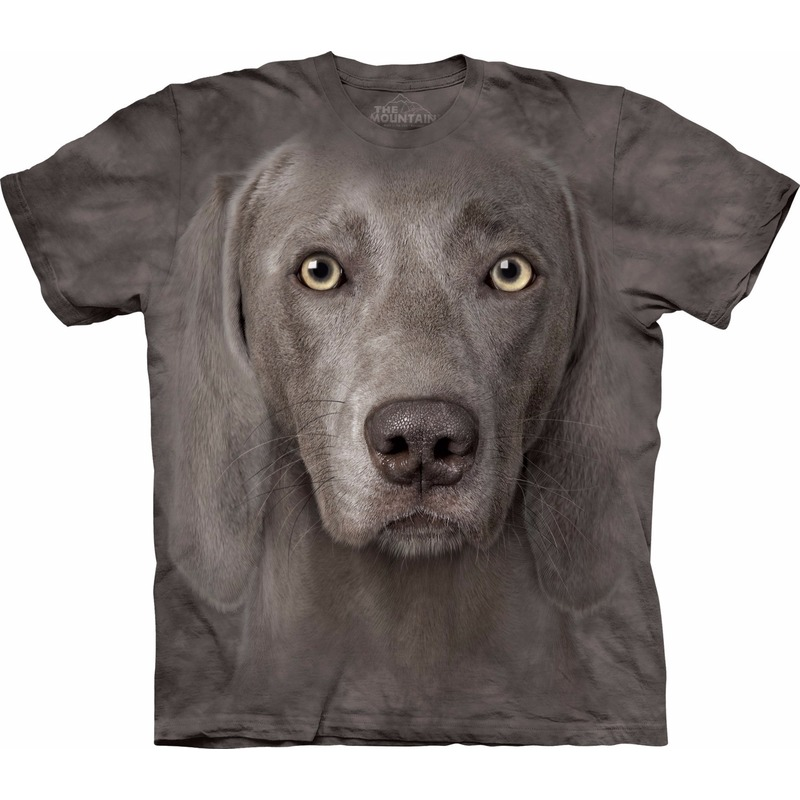 All-over print t-shirt met Weimaraner hond