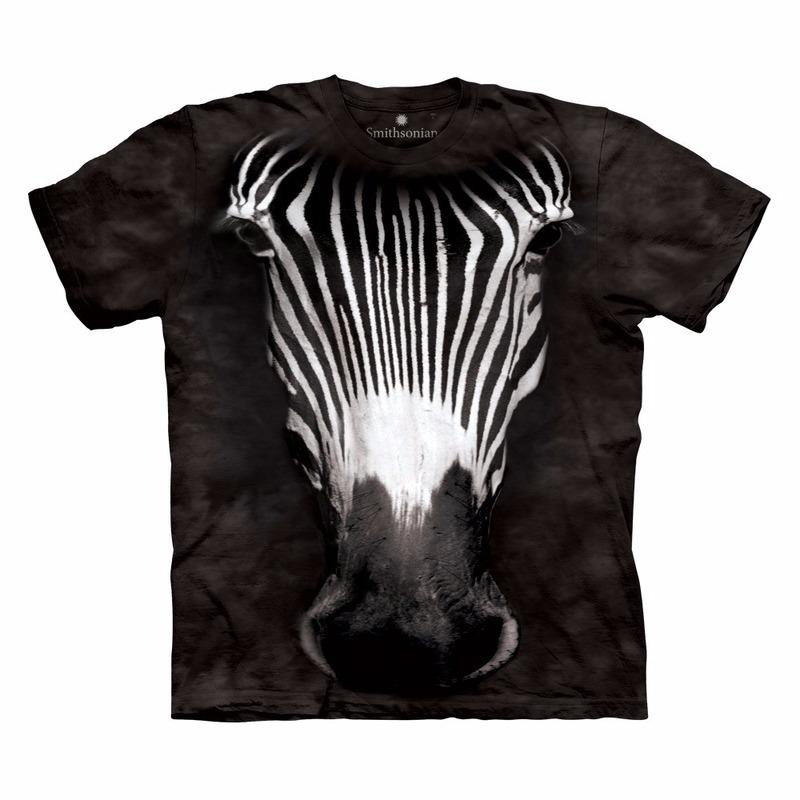 All-over print t-shirt met zebra