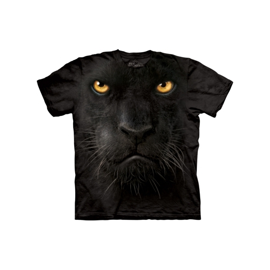 All-over print t-shirt zwarte panter