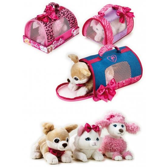 Barbie knuffel poedel in hondentas