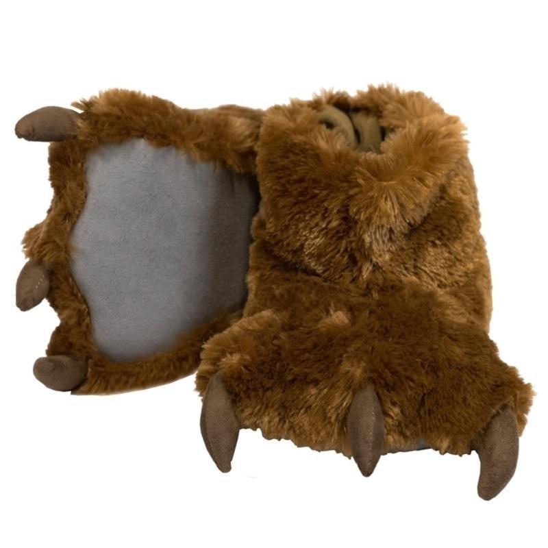 Afbeelding Berenpoot sloffen bruin voor kinderen door Animals Giftshop