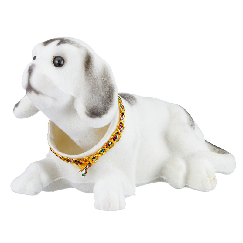 Bewegende witte hond voor hoedenplank