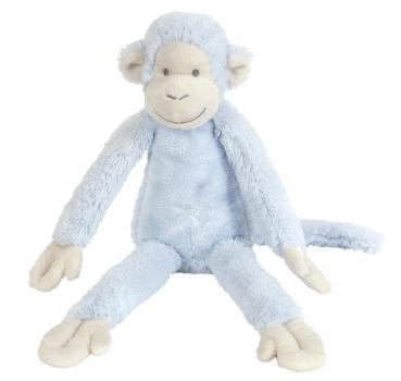 Blauw knuffel aapje 33 cm