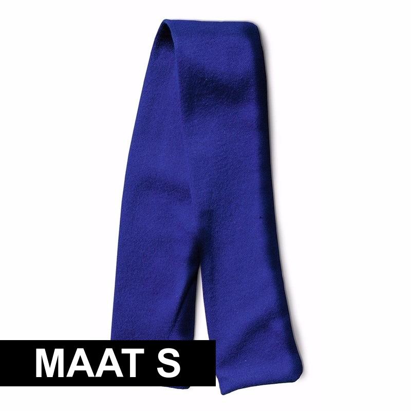 Blauw shawltje voor knuffeldier S 32 x 4 cm