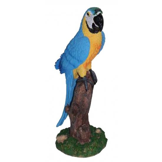 Blauwe decoratie papegaai 32 cm