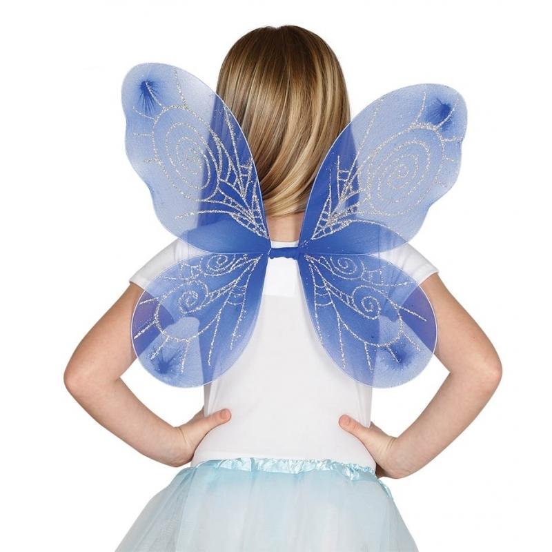 Blauwe vlindervleugeltjes voor meisjes