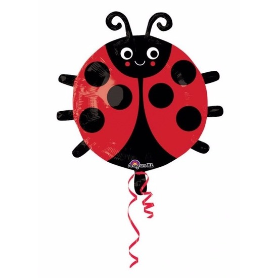 Blij lieveheersbeestje folie ballon 45 cm