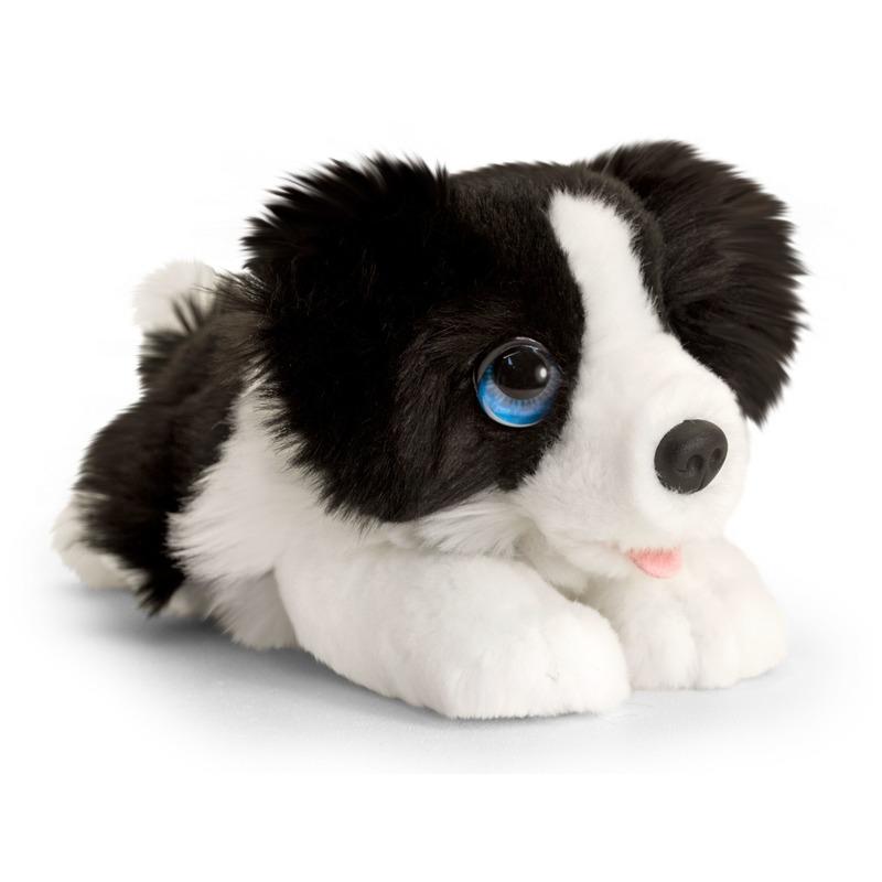 Border collie honden knuffeldier 25 cm